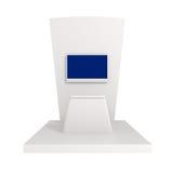 Ausstellungs-Stand lokalisiert auf Weiß Stockfotografie