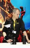 Ausstellungsausrüstung für Fotografie in Moskau am 12. April 2015 Stockbild