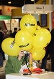 Ausstellungsausrüstung für Fotografie in Moskau am 12. April 2015 Lizenzfreie Stockfotografie