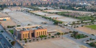 Ausstellungsland bei Nasr City, wenn der allgemeinen Berechtigung für Investition und die Freizonen errichten, Kairo, Ägypten stockfoto