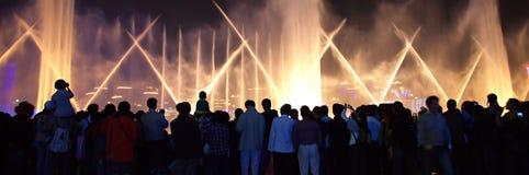 Ausstellungsmusikbrunnen 2010 Stockfotos