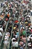 Ausstellungspark Besuch mit 500000 Besuchern an einem Tag Lizenzfreies Stockbild