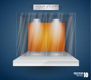 Ausstellungsraum für Produkt mit LED-Scheinwerfern Stockfoto