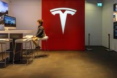 Ausstellungsraum Tesla-Motoren auf dem Kurfuerstendamm lizenzfreies stockfoto