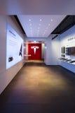 Ausstellungsraum Tesla-Motoren auf dem Kurfuerstendamm stockbilder