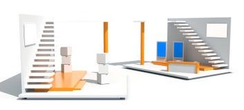 Ausstellungsstand auf Weiß Lizenzfreie Stockbilder