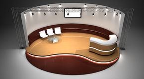 Ausstellungstandplatz 3D übertrug Abbildung Stockfoto
