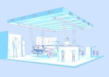 Ausstellungstandplatz Lizenzfreies Stockbild
