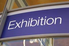 Ausstellungszeichen Stockfotografie