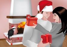Austausch der Geschenke vektor abbildung