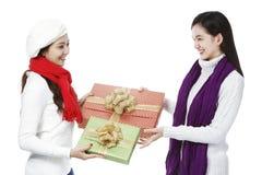 Austausch der Geschenke Stockbild