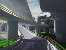 Austausch der Landstraße 3D imagen 3d Stockbilder