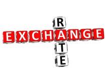 Austausch Rate Crossword lizenzfreie abbildung
