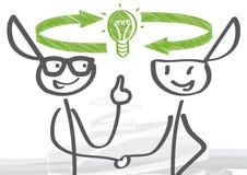 Austausch von Ideen stock abbildung