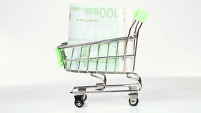 Austauschdollar für Euro stock video