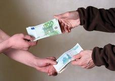 Austauschgeld Stockbild