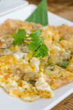 Auster omelett Stockfoto