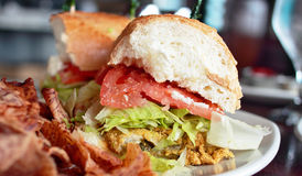 Auster Po Jungen-Sandwich Stockfoto