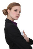 Austere businesswoman Stock Photos