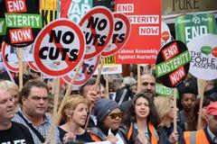 Austeridad demostración el 20 de junio de 2015 Fotos de archivo