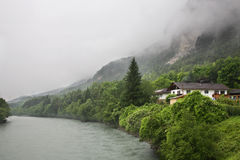 Austerii rzeka blisko Haiming Austria Obraz Royalty Free
