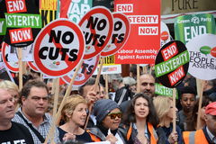 The Austerity Demonstration  20th June 2015 Stock Photos