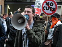 Austerity Protest in London Royalty Free Stock Photo