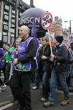 Austerity Protest in London Royalty Free Stock Images