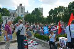 Austerity protest Stock Images