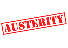 AUSTERITY. Red Rubber Stamp over a white background royalty free illustration