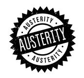Austerity rubber stamp. Grunge design with dust scratches. Effects can be easily removed for a clean, crisp look. Color is easily changed Royalty Free Stock Photo