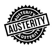 Austerity rubber stamp. Grunge design with dust scratches. Effects can be easily removed for a clean, crisp look. Color is easily changed Royalty Free Stock Photography