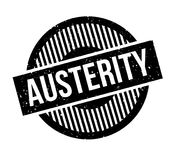 Austerity rubber stamp. Grunge design with dust scratches. Effects can be easily removed for a clean, crisp look. Color is easily changed Stock Images
