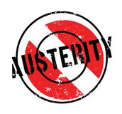 Austerity rubber stamp. Grunge design with dust scratches. Effects can be easily removed for a clean, crisp look. Color is easily changed Stock Photography