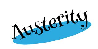 Austerity rubber stamp. Grunge design with dust scratches. Effects can be easily removed for a clean, crisp look. Color is easily changed Stock Photos