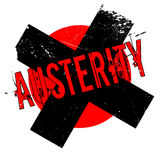 Austerity rubber stamp Royalty Free Stock Photography