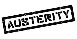 Austerity rubber stamp Stock Image