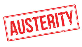 Austerity rubber stamp Stock Photos