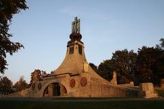 austerlitz纪念碑和平prace 库存照片
