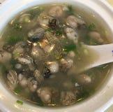Austern-Suppe Stockfoto