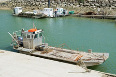 Austernboote in Oléron Insel Stockbild