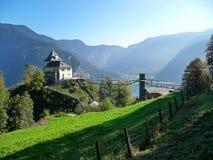 Austria. Hallstatt. Villa on the mountain. A beautiful mountain landscape. royalty free stock image