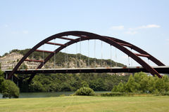 Austin 360 Bridge. A shot of the Austin 360 Bridge on a clear calm day.  This is a very pretty picture of the bridge and a great symbol of Austin, Texas Royalty Free Stock Image