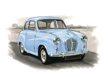 Austin A30 of A35 Royalty-vrije Stock Afbeelding
