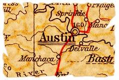 Austin-alte Karte Lizenzfreies Stockfoto