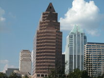 Austin Buildings. Highrise Buildings in the Austin Royalty Free Stock Images