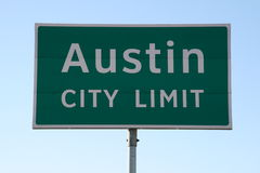Austin City Limit Sign Stock Photo