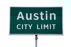 Austin City Limit Sign Royalty Free Stock Images