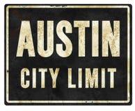 Austin City Limit Sign Metal royalty-vrije illustratie