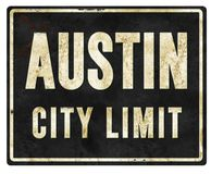 Austin City Limit Sign Metal royalty free illustration